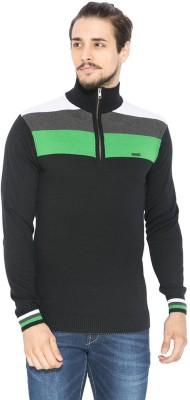 Status Quo Striped V-neck Casual Men's Multicolor Sweater