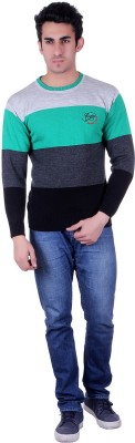 SIOUX Solid Round Neck Men's Multicolor Sweater