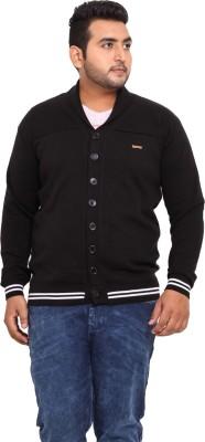John Pride Solid V-neck Casual Men's Black Sweater