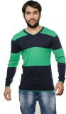 AMX Striped V-neck Casual Men Blue Sweat...