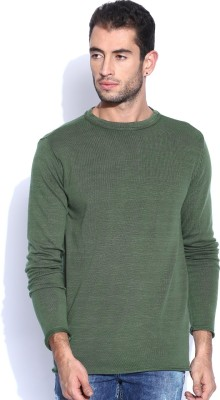 HRX by Hrithik Roshan Solid Round Neck Casual Women,s Green Sweater