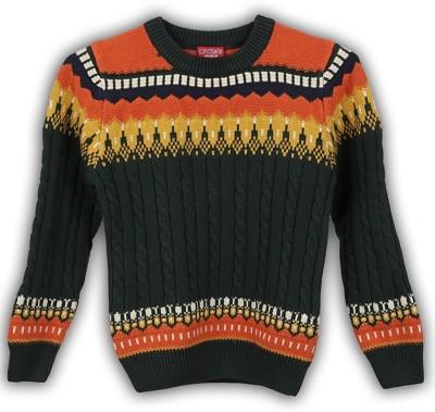 Lilliput Self Design Round Neck Casual Boys Sweater