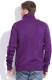 Puma Solid Casual Men Purple Sweater