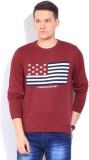 Wrangler Solid Round Neck Casual Men Red...