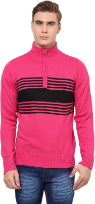 Yepme Solid Turtle Neck Casual Men,s Pink Sweater
