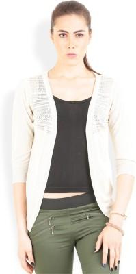 Lee Solid Round Neck Casual Women's Beige Sweater