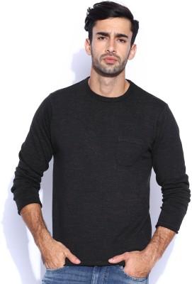 HRX by Hrithik Roshan Self Design Round Neck Casual Men's Grey Sweater