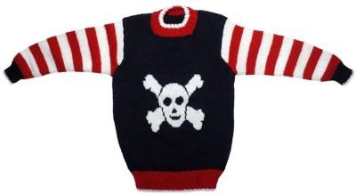 Nonch Le Striped Round Neck Casual Boy,s Blue, Red, White Sweater
