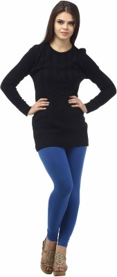 Stylistry Striped Round Neck Casual Women's Black Sweater
