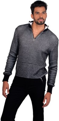 Provogue Solid Turtle Neck Casual Men's Grey Sweater