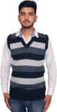 Ganpati textiles Striped V-neck Men Mult...