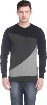 CLUB YORK Self Design Round Neck Casual Men's Multicolor Sweater