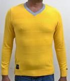 Locus Classicus Solid V-neck Men Yellow ...