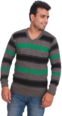Marino Club Self Design V-neck Men's Multicolor Sweater
