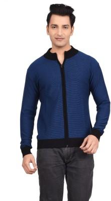 Hoffmen Solid V-neck Men's Blue Sweater