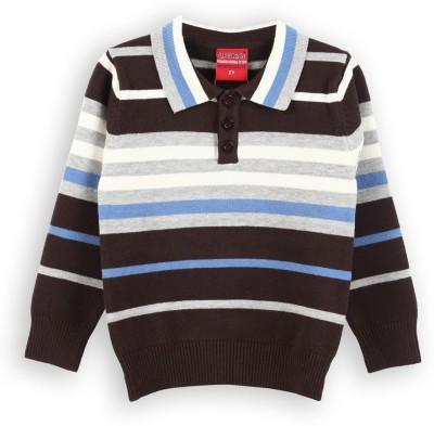 Lilliput Striped V-neck Casual Boy's Multicolor Sweater