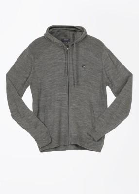 Arrow Sports Solid Casual Men's Grey Sweater