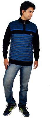 Alpine Enterprises Striped Round Neck Men's Multicolor Sweater