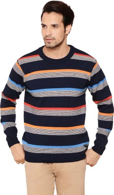 Northern Lights Striped Round Neck Men's Multicolor Sweater