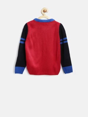 Yk Solid Round Neck Casual Baby Girl,s Red Sweater