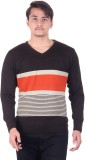 Numalo Striped V-neck Casual Men Grey, O...
