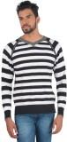 Provogue Striped V-neck Casual Men Black...