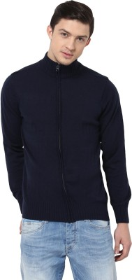 Yepme Solid Turtle Neck Casual Men,s Blue Sweater