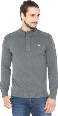 Status Quo Solid V-neck Casual Men's Grey Sweater