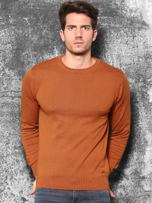 WROGN Solid Round Neck Casual Men's Red Sweater