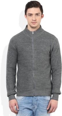 Numero Uno Solid Crew Neck Casual Men's Grey Sweater