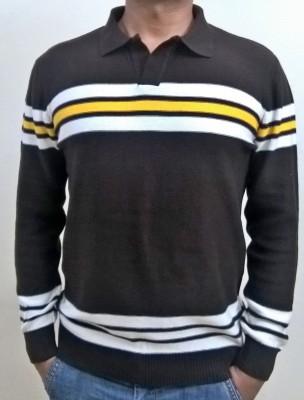 Locus Classicus Striped V-neck Men's Multicolor Sweater