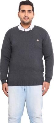 John Pride Solid V-neck Men's Grey Sweater
