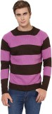 Yepme Striped Round Neck Casual Men Purp...