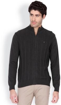Blackberrys Solid Round Neck Men's Grey Sweater