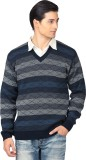 Aarbee Striped V-neck Casual Men Multico...