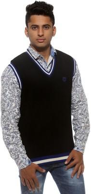 Sports 52 Wear Striped V-neck Casual Men's Reversible Grey, Black Sweater