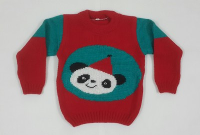 Oshin Woven Round Neck Baby Boy's Red, Green Sweater
