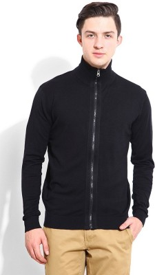 Blackberrys Solid Round Neck Casual Men Black Sweater
