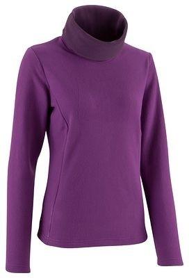 Quechua Solid Turtle Neck Casual Women's Purple Sweater