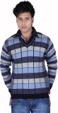 Neasa Solid, Striped V-neck Casual Men B...