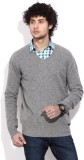 Being Human Solid V-neck Casual Men Grey...