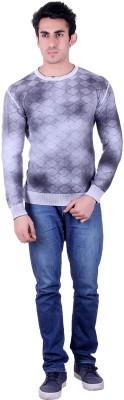 SIOUX Solid Round Neck Men's Grey Sweater