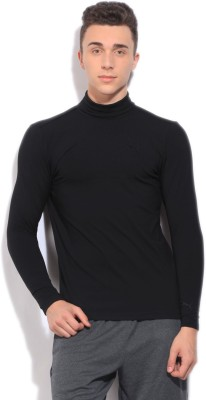 Puma Solid Casual Men Black sweater