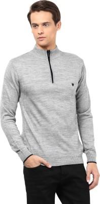 Okane Solid Turtle Neck Men's Grey Sweater