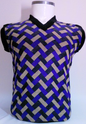 ADK Striped V-neck Casual Men's Multicolor Sweater