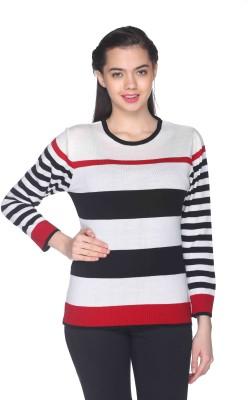 CLUB YORK Striped Round Neck Casual Women's Multicolor Sweater