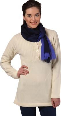 Yepme Solid V-neck Casual Women's Beige Sweater