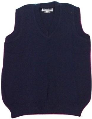 Rajindras Self Design V-neck Casual Men's Dark Blue Sweater