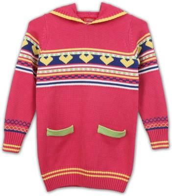 Lilliput Self Design Turtle Neck Casual Girls Sweater