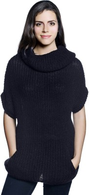 Allen Solly Solid Round Neck Casual Women's Black Sweater